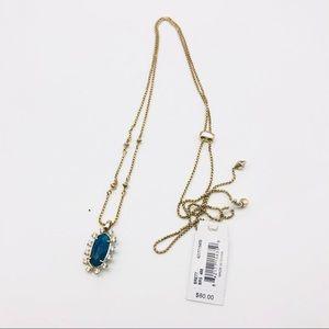 Kendra Scott Brett Adjustable Necklace In Blue